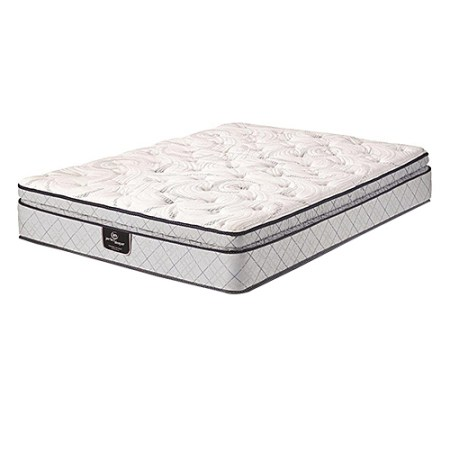 Serta Continuous Support Innerspring Super Pillow Top King Size Mattress Only