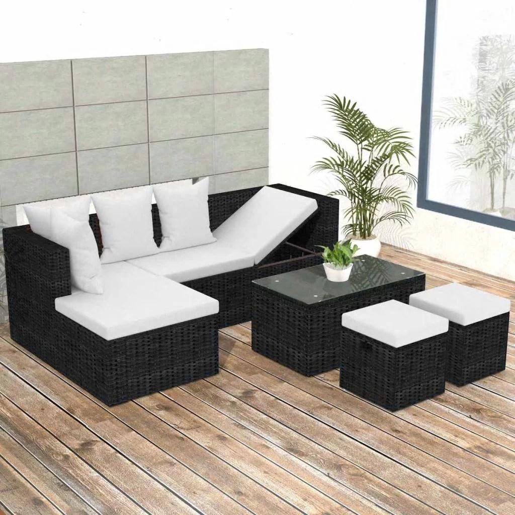 garden sofa coffee table stool set rattan patio furniture kit lawn pool backyard outdoor sofa cushions walmart com