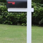 The Washington Mailbox System With White Vinyl Post Combo Stand And Black Mailbox Included Walmart Com Walmart Com
