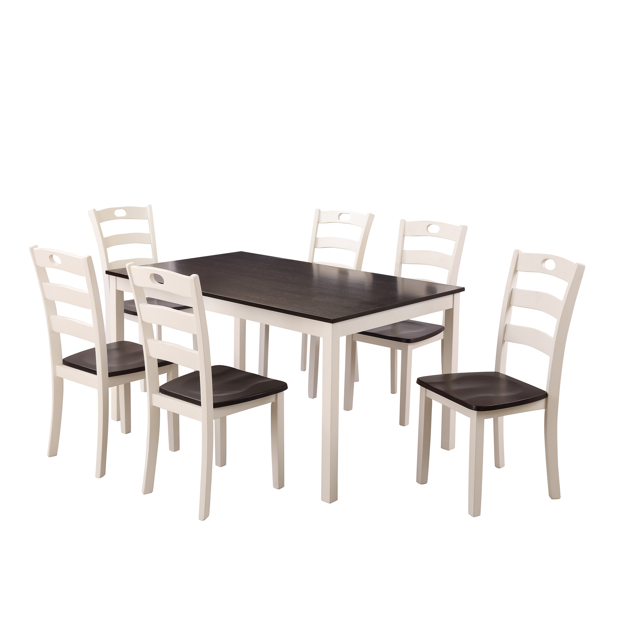 clearance dining table set with 6 chairs 7 piece wooden on dining room sets on clearance id=75032