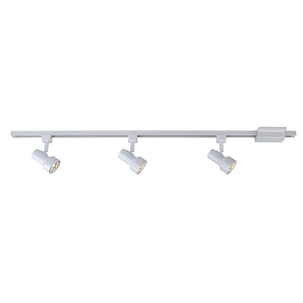 hampton bay mini step 44 in 3 light white linear track lighting kit 803889 walmart com