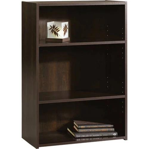sauder beginnings 35 3 shelf standard bookcase cinnamon cherry