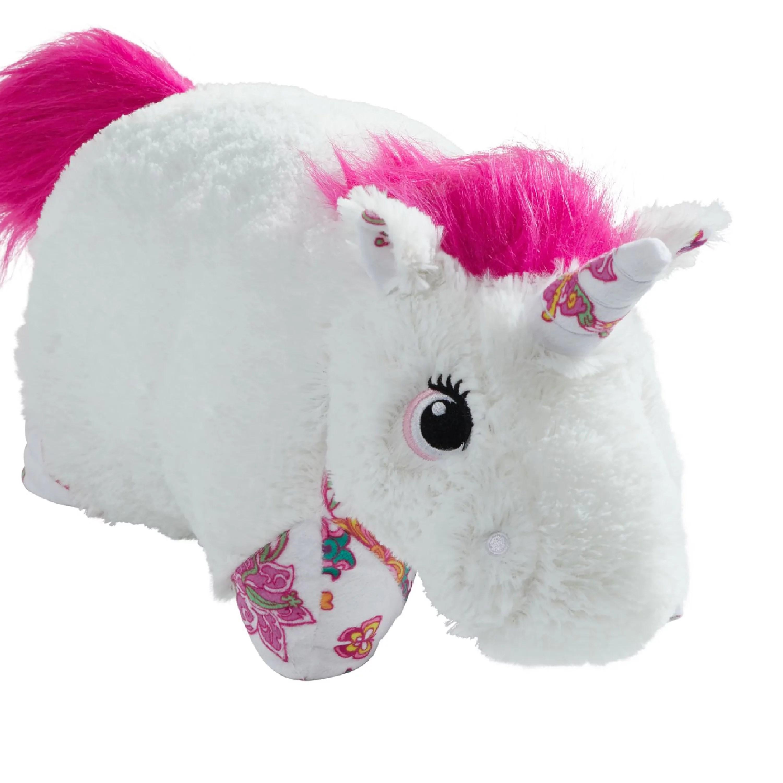 pillow pets 18 white unicorn stuffed animal plush toy pillow pet