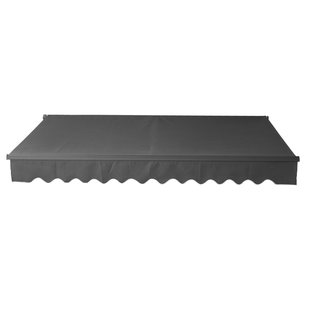 aleko 10 x8 retractable black frame patio awning black color