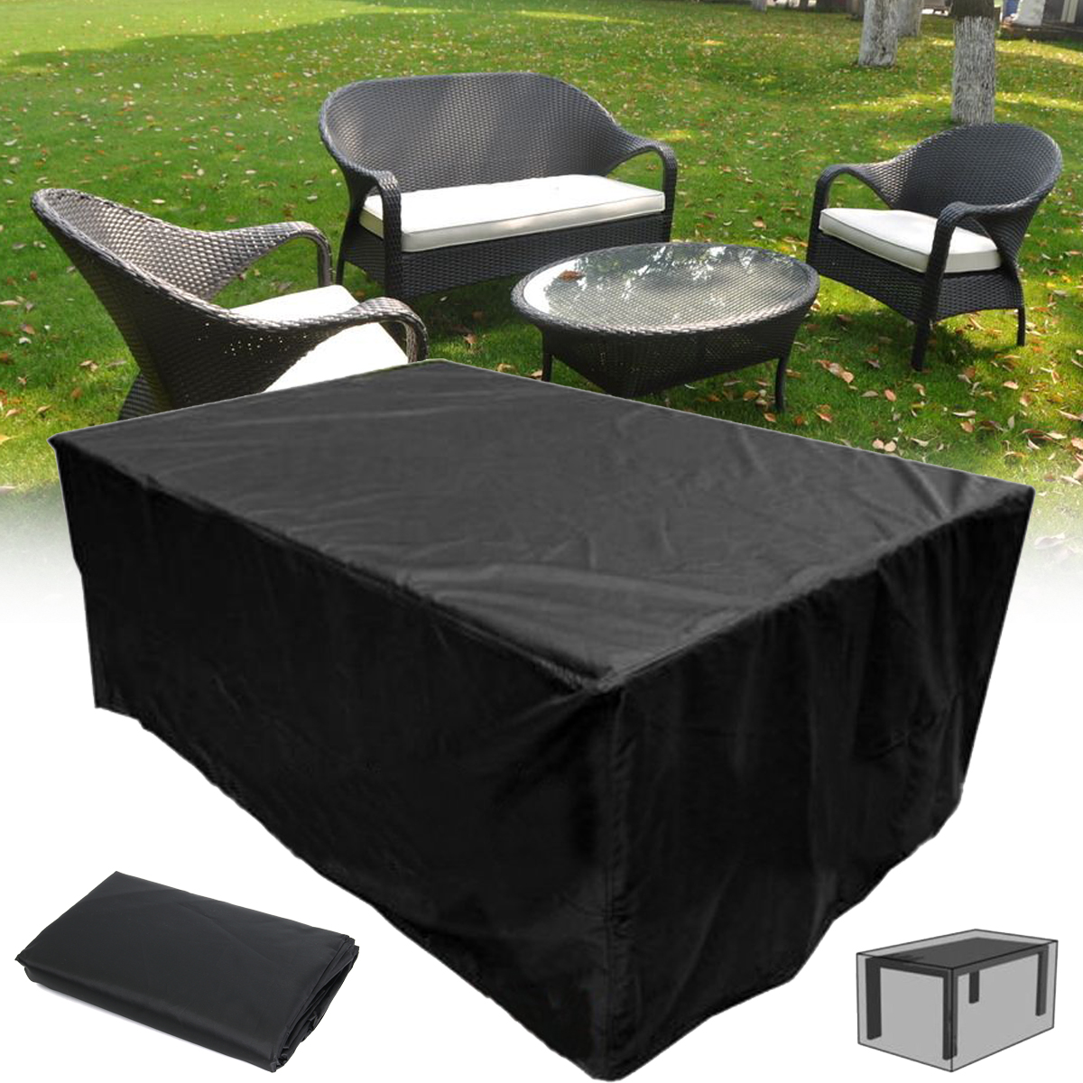 83 x43 x28 waterproof furniture cover rectangular patio table cover for moving protection and long term storage walmart com