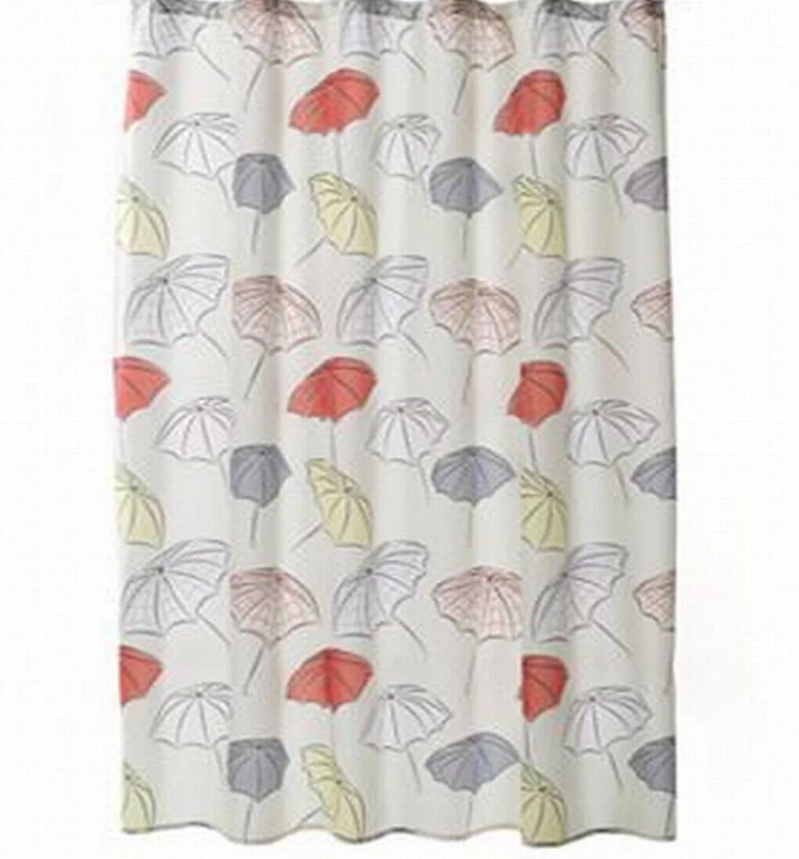 home classics umbrellas fabric shower curtain gray yellow red bath walmart com