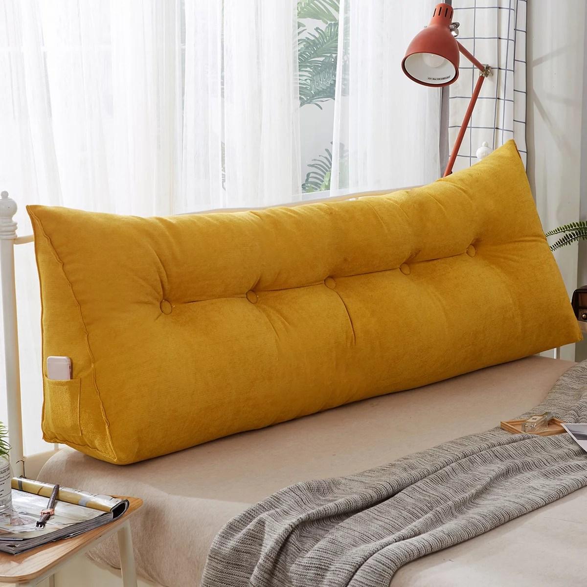 Sofa Cushion Bedside Pillow Wedge Triangular Pillow Bed Backrest Positioning Support Pillow Reading Pillow Office Lumbar Pad For Support Head Waist Walmart Com Walmart Com