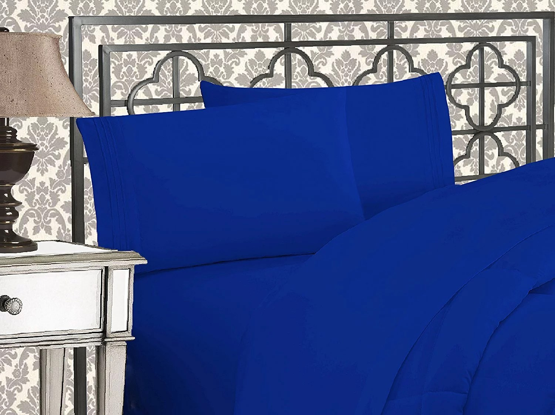 clearance super soft 1500 tc sheet set queen royal blue