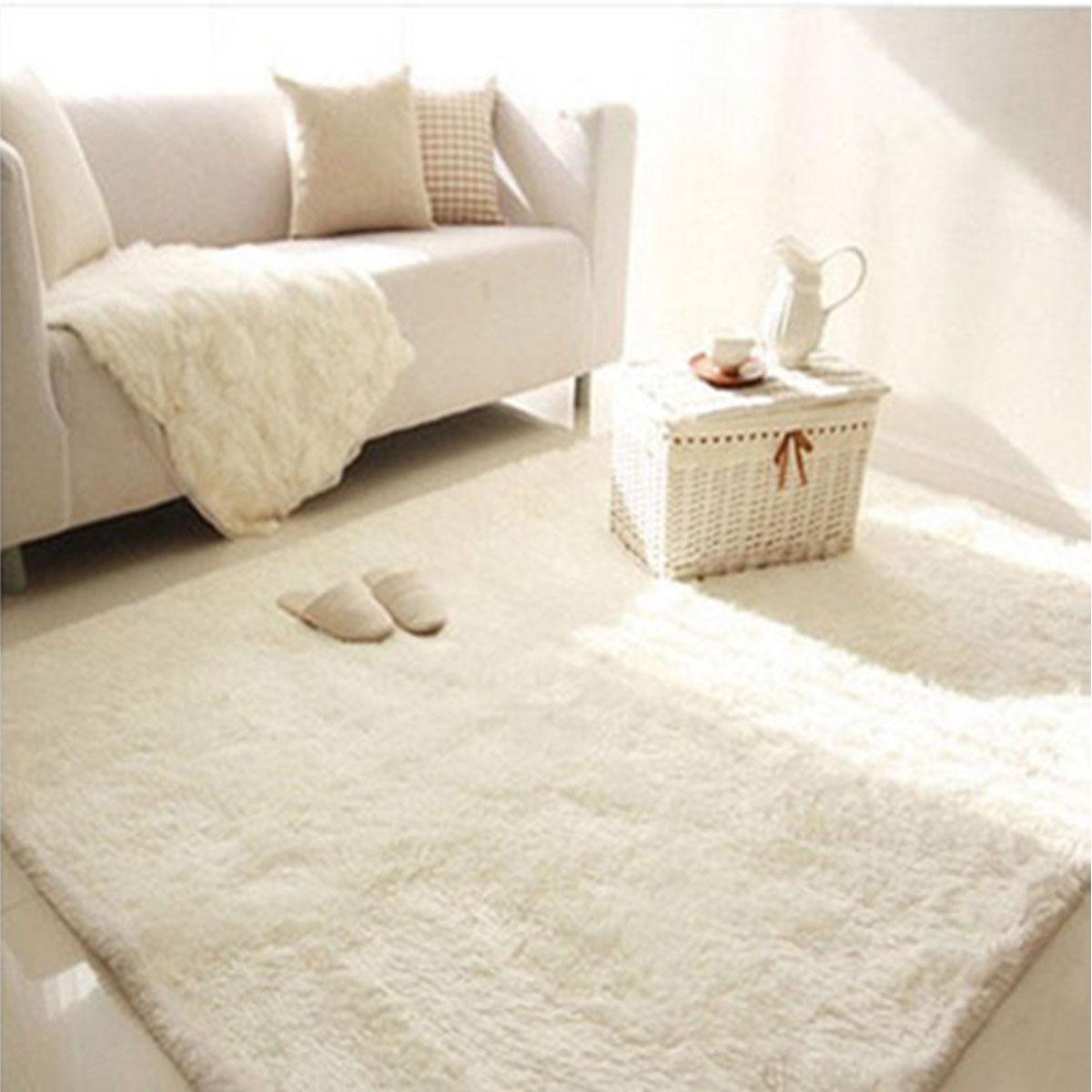 63 X90 5 Modern Rectangle Soft Fluffy Floor Rug Anti Skid Shag Shaggy Area Rug Bedroom Dining Room Carpet Yoga Mat Child Play Mat