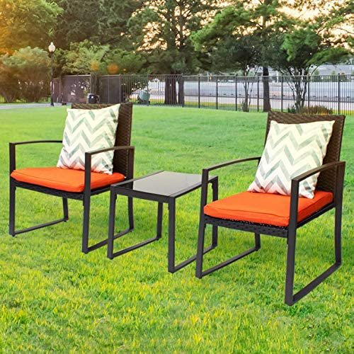 3 parts open air wicker lawn furniture sets modern bistro set rattan chair dialogue sets with yard and bistro bedside table