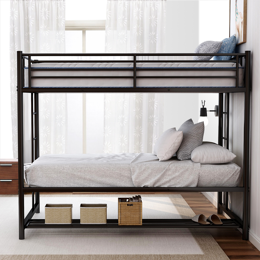 clearance metal bunk beds heavy duty twin over twin on walmart bedroom furniture clearance id=17467