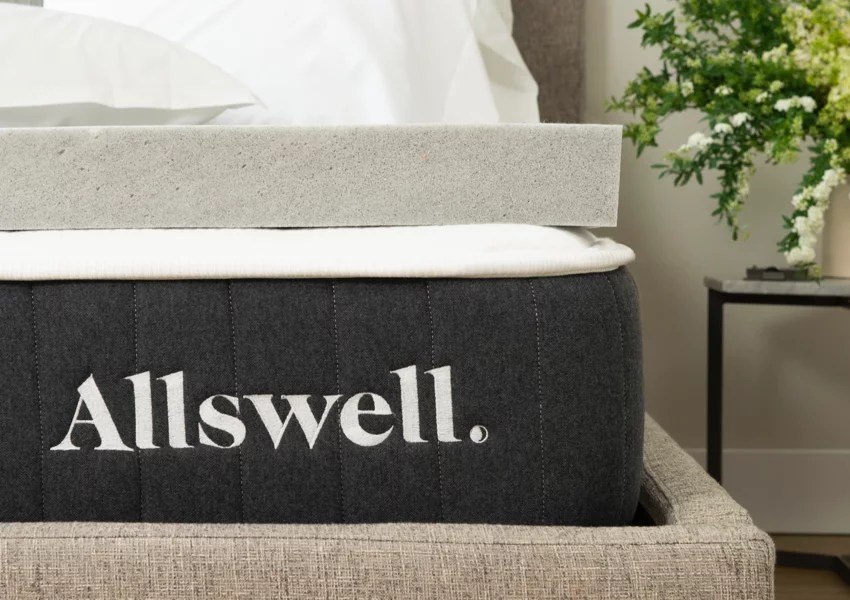 allswell 3 memory foam mattress topper infused with graphite queen walmart com