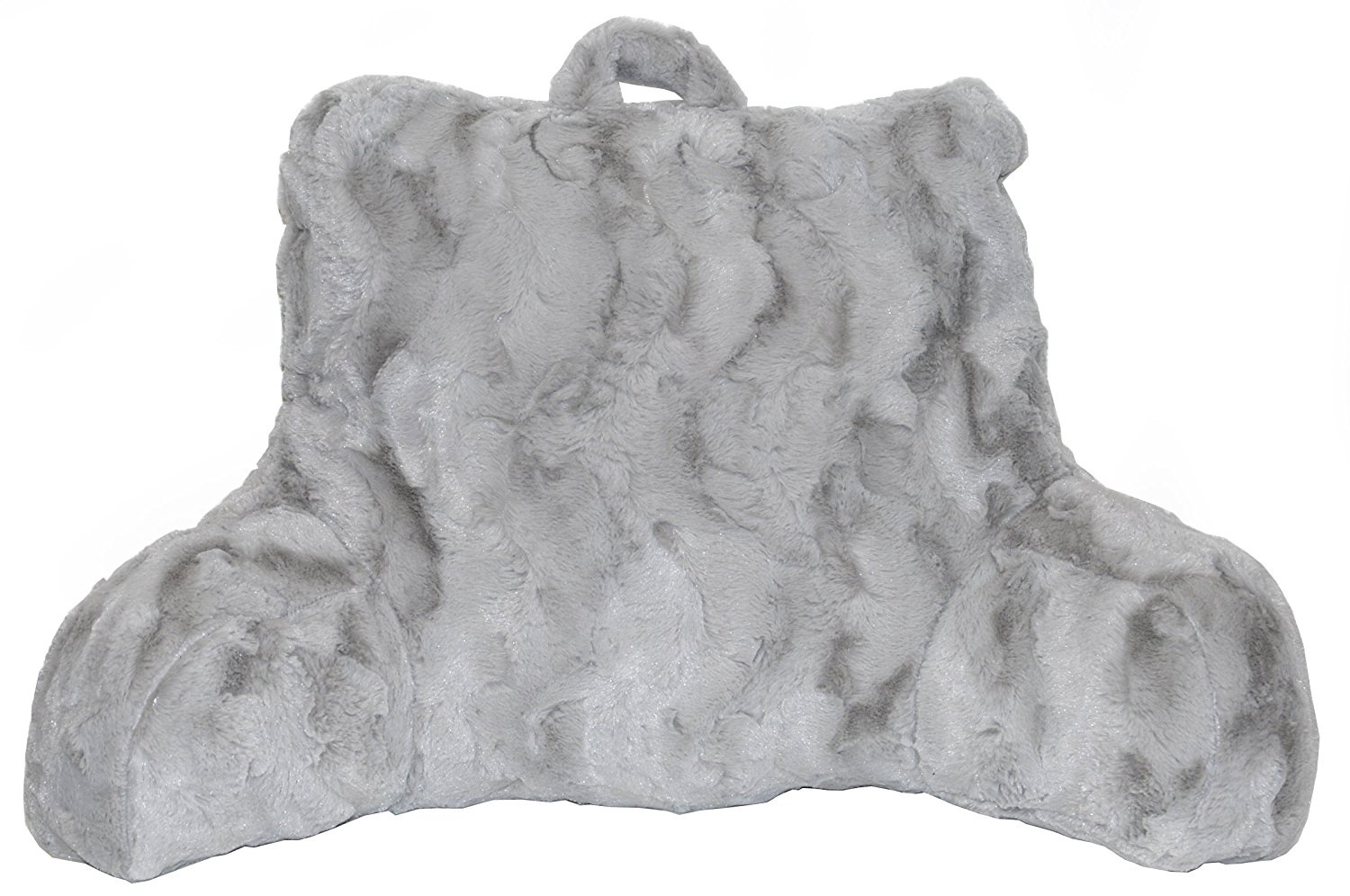 brentwood originals comfortable reading pillows drizzle grey