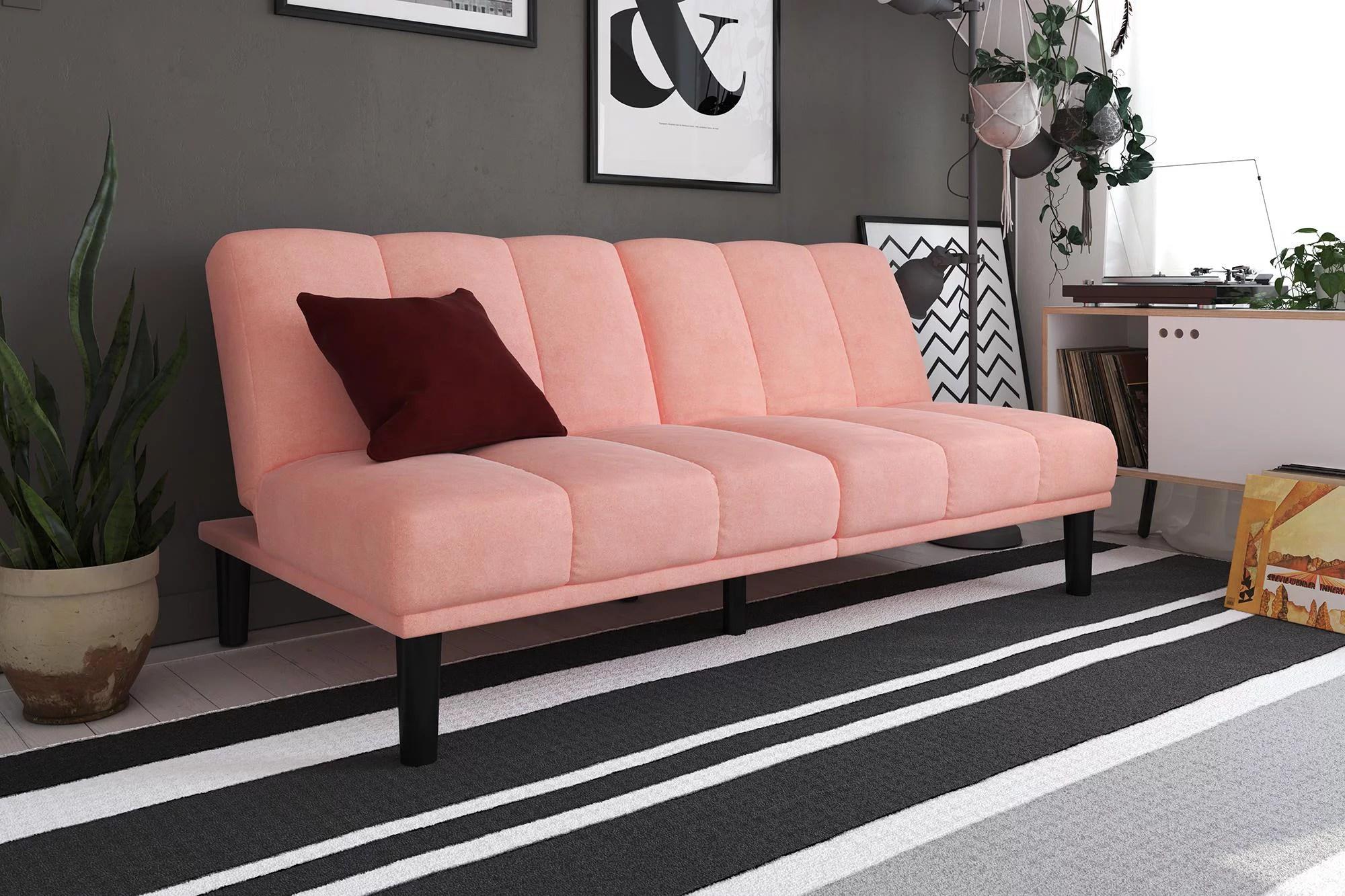mainstays channel cushion futon multiple colors
