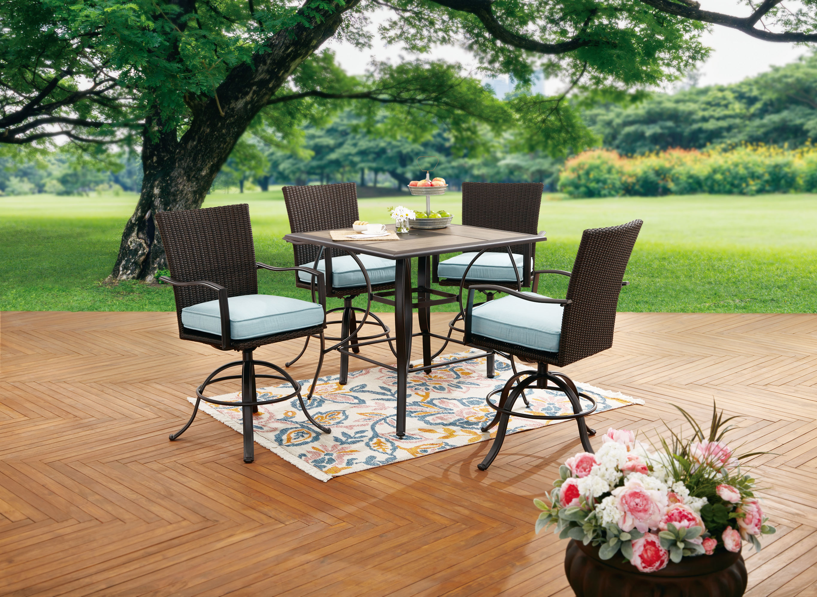 better homes and gardens piper ridge outdoor patio dining set 5 piece high top