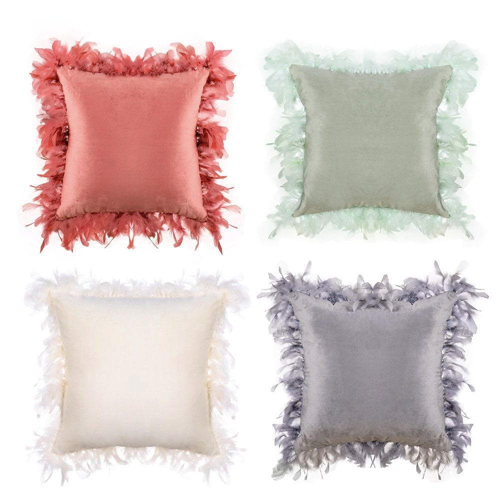 1pc velvet pillow case cushion cover pillow cover luxury square decorative pillowcase 45x45cm 4colors to choose from