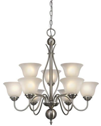 patriot lighting irelyn 27 brushed nickel transitional 9 light chandelier