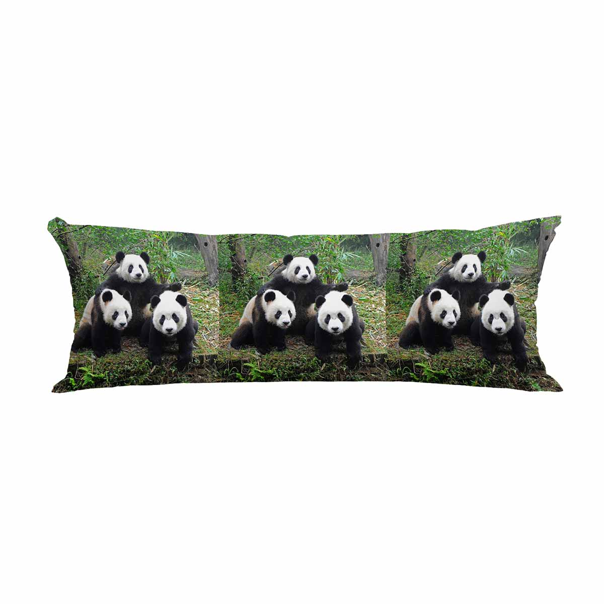 pkqwtm three giant pandas posing for camera long body pillow case cover pillow cushion size 20x60 inches