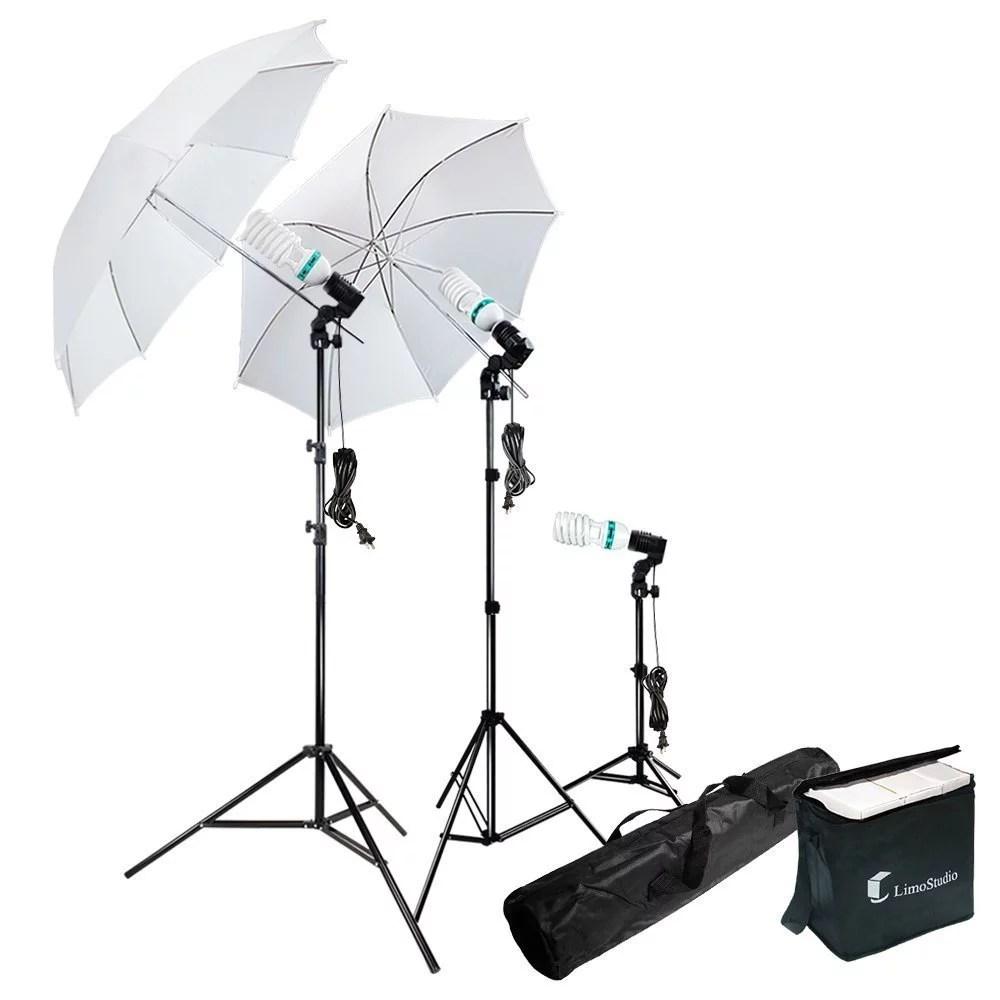 photography photo portrait studio 600w day light umbrella continuous lighting kit liwa21 walmart com