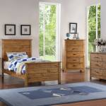 Madison 3 Piece Full Size Natural Wood Rustic Kids Bedroom Set Panel Bed Chest Nightstand Kd Walmart Com Walmart Com