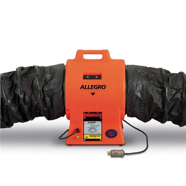 allegro industries 9539 12exi 12 in axial explosion proof inline booster plastic blower