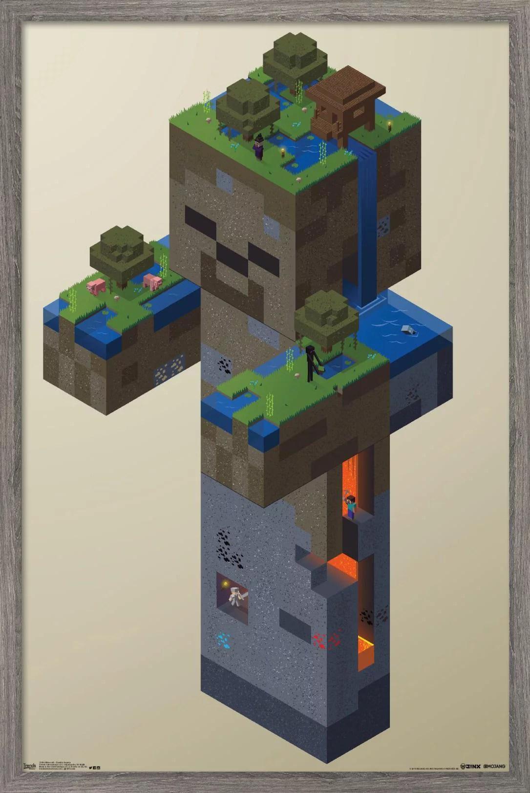 minecraft zombie swamp poster