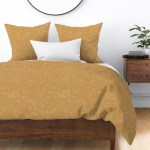 Tiny Polka Dots Mustard And White Boho Decor Tan Sateen Duvet Cover By Roostery Walmart Com Walmart Com