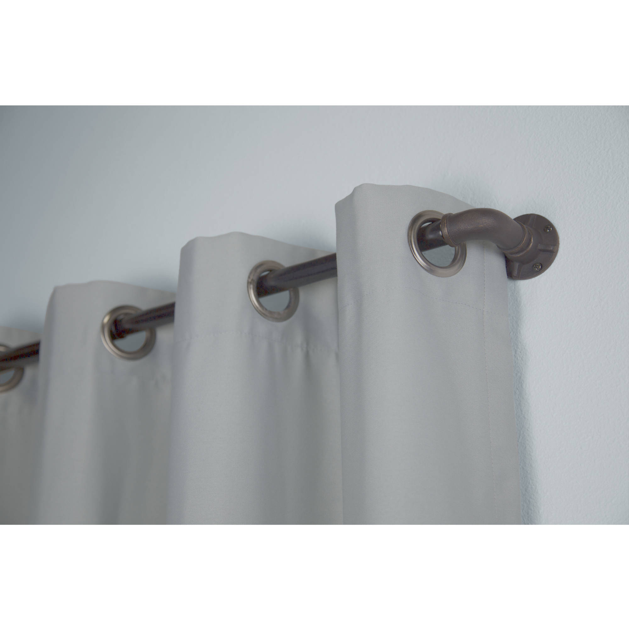 bali 1 industrial curtain rod set 36 66 or 66 120