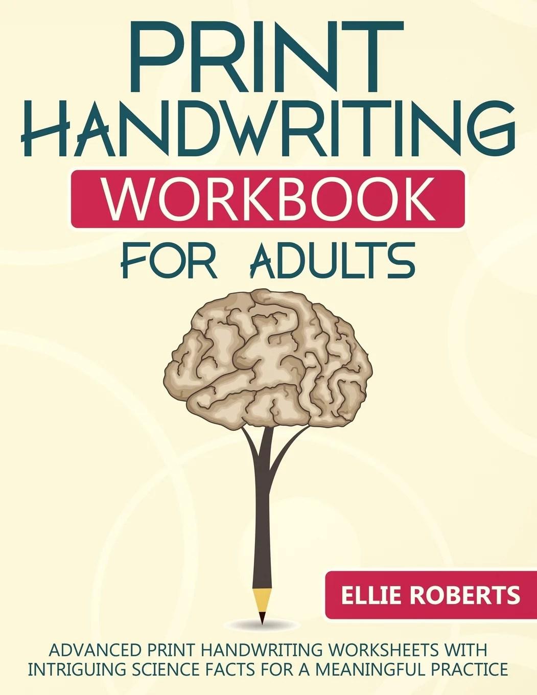 Print Handwriting Workbook For Adults Advanced Print