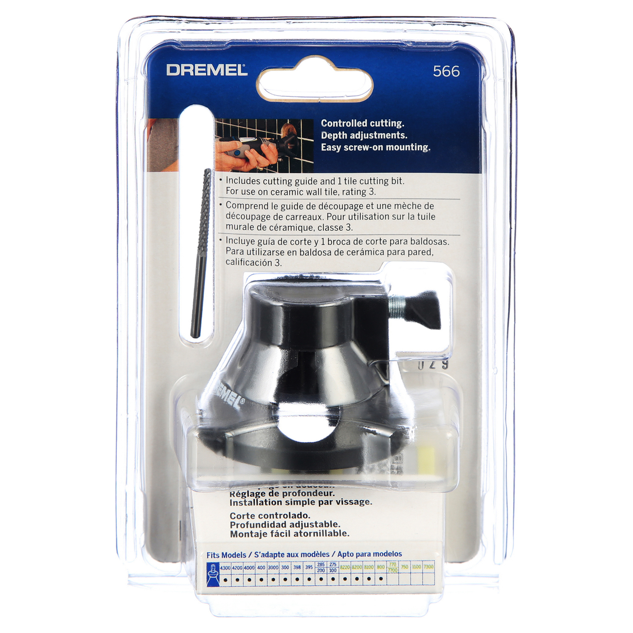 dremel 566 tile cutting attachment kit for rotary tools 2 piece