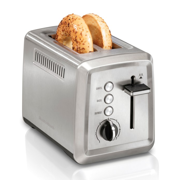 Hamilton Beach Modern 2 Slice Stainless Steel Toaster with Extra-Wide Slots, 22794