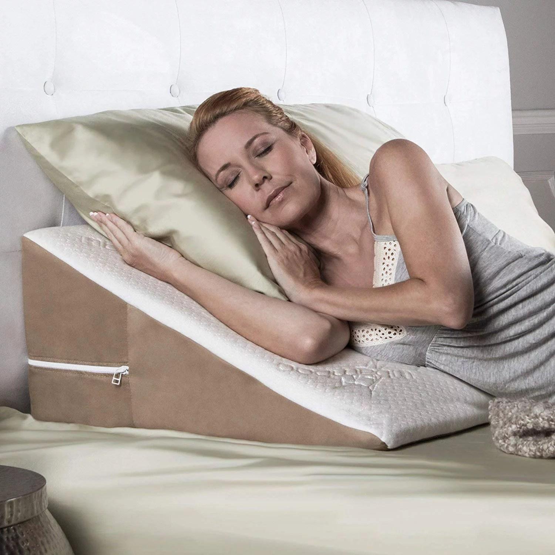 avana bed wedge 8 acid reflux wedge pillow with gel infused cooling memory foam walmart com
