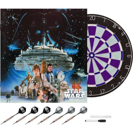 Limited Edition Star Wars Empire Strikes Back Bristle Dartboard with Cabinet