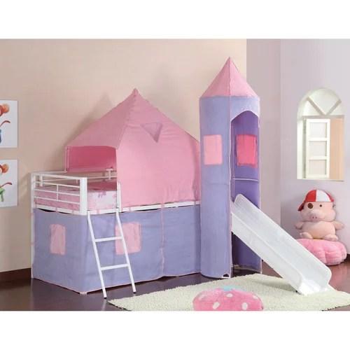Coaster Princess Castle Twin Loft Bed PinkPurple