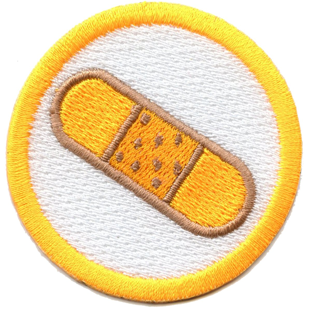 First Aid Scout Merit Badge Embroidered Iron On Patch
