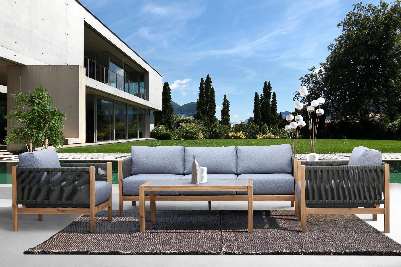 sienna 4 piece acacia outdoor patio sofa seating set