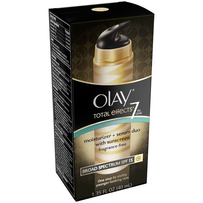 Olay Total Effects 7-in-1 Serum Face Moisturizer, 1.35fl oz, SPF 15
