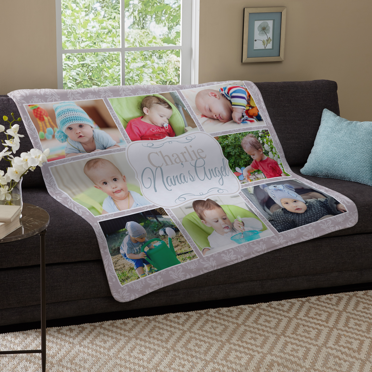 Personalized kids are the best photo plush blanket