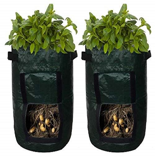 Gohope 2 Pack Potato Grow Bags Plant Growing Bags Drainage Holes And Access Flap Handles Garden Bag Plant Pot For Grow Vegetables Plant Bags Fabric Pots 2pcs Walmart Canada