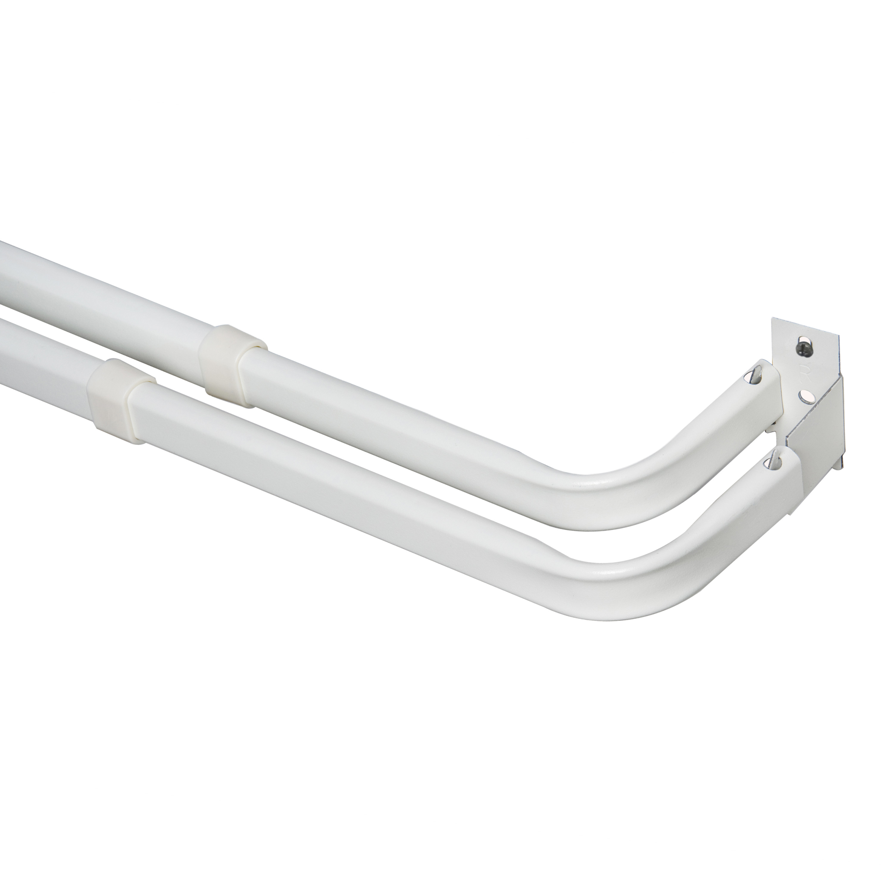 mainstays 84 120 in basic adjustable double curtain rod 2 3 in clearance walmart com
