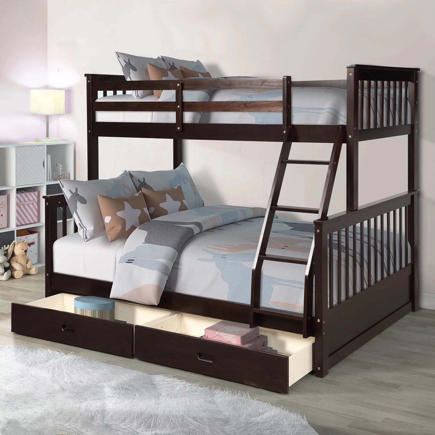 clearance twin over full bunk beds for kids solid wood on walmart bedroom furniture clearance id=71590