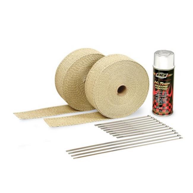 dei 010111 white high temperature silicone coating exhaust wrap kit