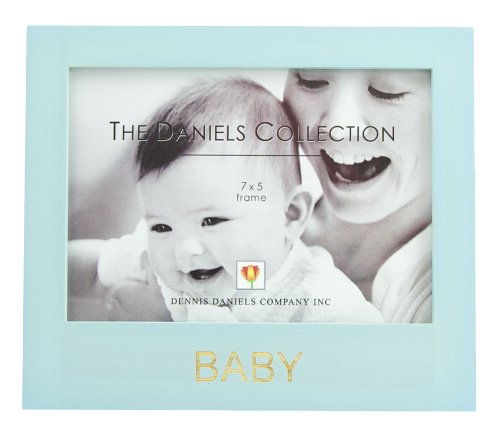 The Daniels Collection Blue Wooden Baby Picture Frame ...