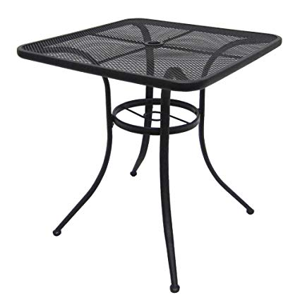 mm commercial home steel mesh bistro table 28 patio outdoor
