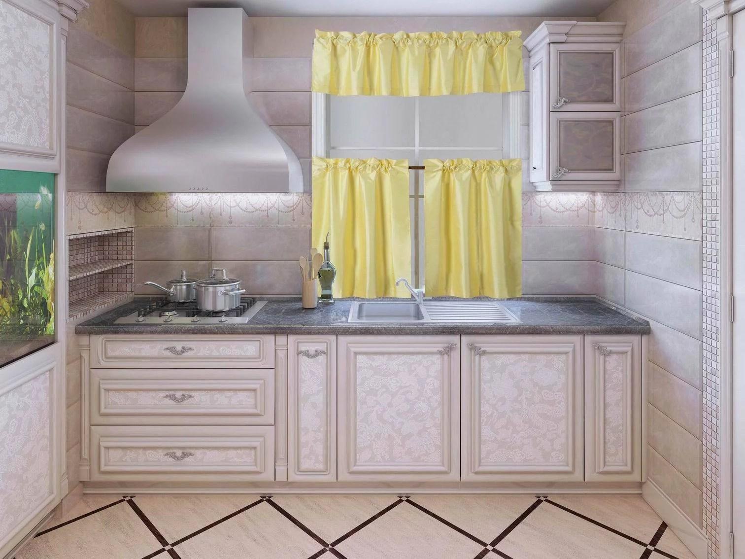 k3 yellow 3 piece blackout rod pocket kitchen window curtain set darkening tier panels treatment with matching valance