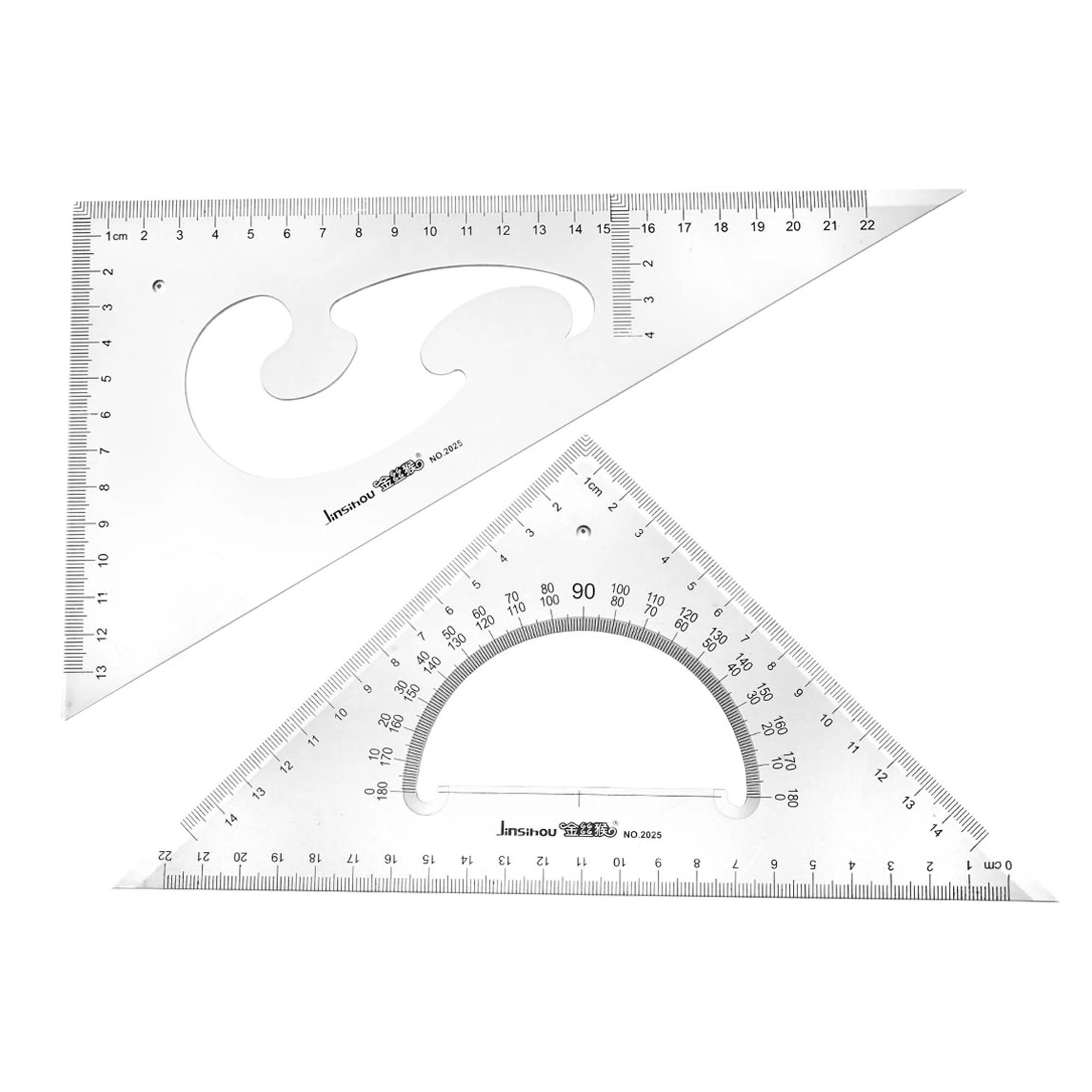 Triangle Ruler Square Set 30 60 45 90 Degrees 22cm