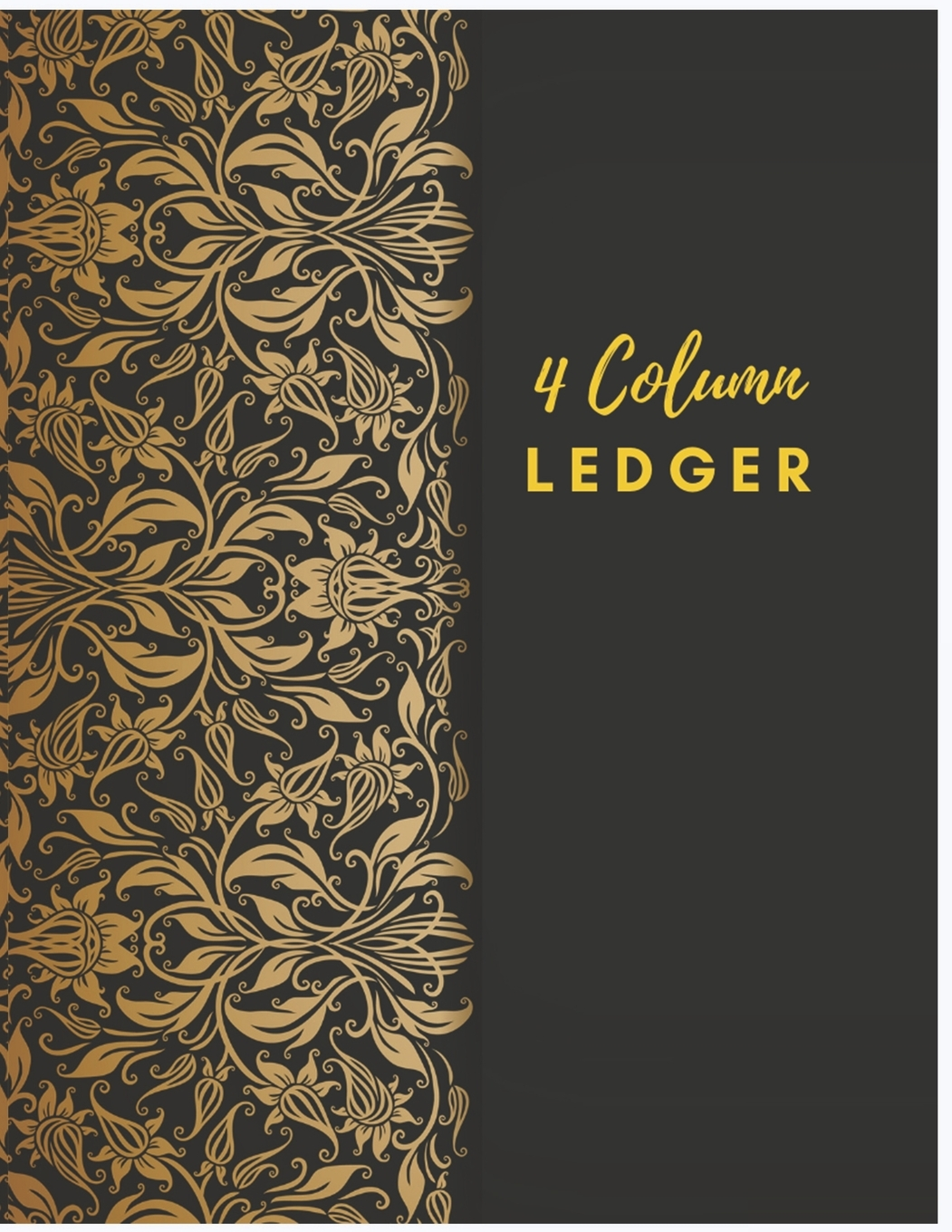 General Expense Accounting Ledger Notebook 4 Column