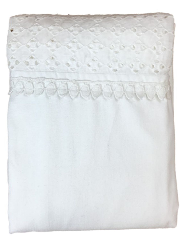 threshold white eyelet fabric shower curtain classic bath decor walmart com