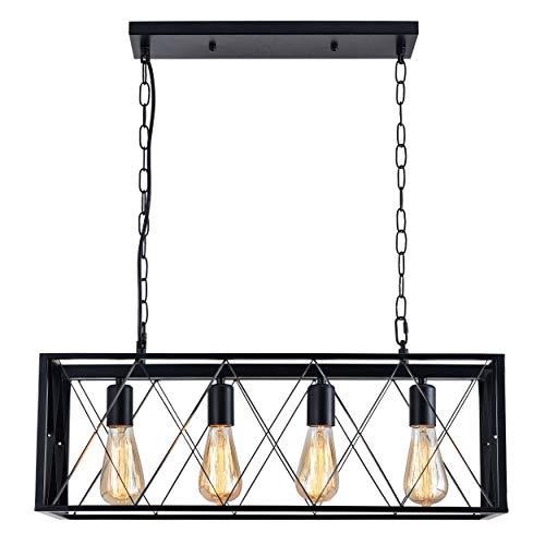 isramp 4 lights pendant lighting industrial kitchen light fixtures simplicity dining room pendant ceiling hanging kitchen bar lights metal matte