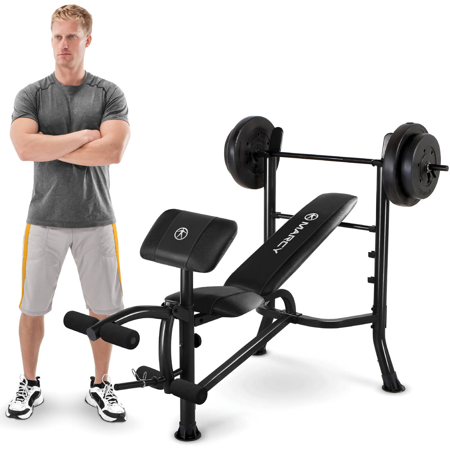 Marcy Mwb 20101 Standard Bench 80 Pound Weight Set